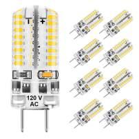 Eterbiz G8 LED Bulb Dimmable 3W Equivalent to G8 Halogen Bulb 25W-30W Bi-Pin Warm White 3000K Energy Saving G8 Base Led Bulb Light Fitting Bulbs, Under Counter Kitchen Lighting AC 120V (8 Pack)
