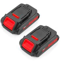 2Packs 20 Volt MAX 2.5Ah Lithium Ion Replace for Dewalt 20V Battery XRP DCB200 DCB201 DCB202 DCB203 DCB204 DCB205 DCB206 DCB207