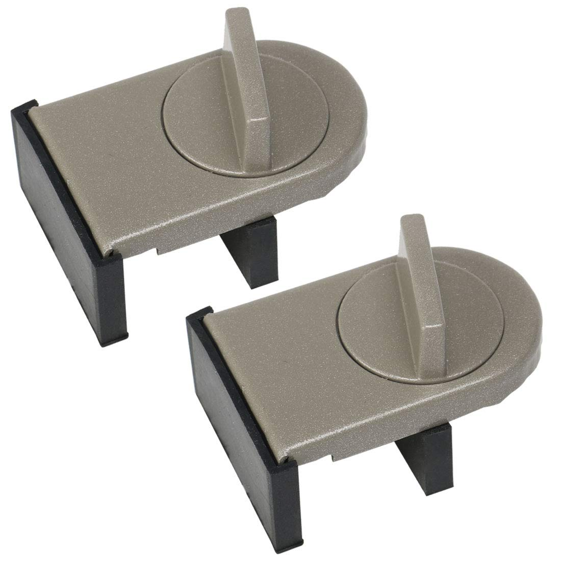 uxcell 2pcs Sliding Window Lock Metal No Tools Required Adjustable Door Window Transom Control Stopper, Brown