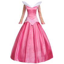 Angelaicos Womens Satin Princess Dress Halloween Cosplay Costume