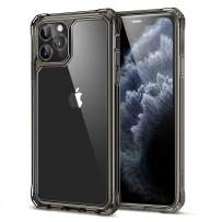 ESR Air Armor Designed for iPhone 11 Pro Max Case [Shock-Absorbing] [Scratch-Resistant] [Military Grade Protection] Hard PC + Flexible TPU Frame, for The iPhone 11 Pro Max (2019), Transparent Black