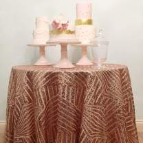 B-COOL 108 Round Sequin Tablecloth Diamond Sequin Table Linen Glitter Table Cloth Round Table Cover