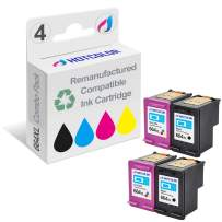 HOTCOLOR Remanufactured Ink Cartridge Replacement for HP 664XL 664 High Yield Work for DeskJet Ink Advantage 3636 3836 4536 4676 1115 2136 Printer (2 Black 2 Tri-Color, 4-Pack)