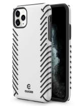 EUASOO iPhone 11 Pro Max Case,PC + Soft TPU Cover Double Protection, High Effective Heat Dissipation,Support Wireless Charging,Anti-Scratch Resistant Cover for iPhone 11 Pro Max,White