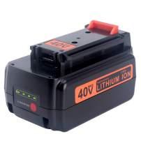 Biswaye 3.0Ah Replacement Black and Decker 40V Lithium Battery LBXR36, for Black & Decker 40-Volt Cordless Power Tools LST136 LHT2436 LSW36 Lithium Battery LBXR36 LBXR2036 LBX1540 LBX2040 LBX2540