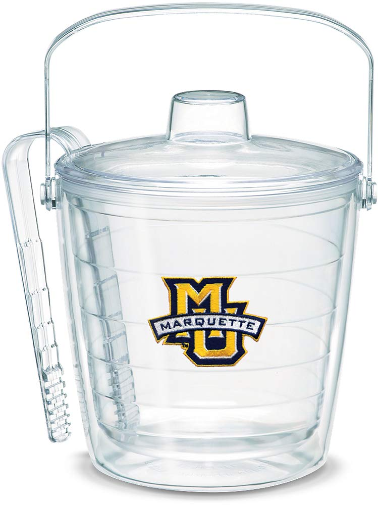 Tervis 1053429 Marquette Golden Eagles Logo Ice Bucket with Emblem and Clear Lid 87oz Ice Bucket, Clear
