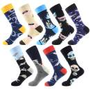 WallchauG Men Dress Socks,Cool Colorful Fancy Novelty Funny Casual Cotton Fashion Patterned Socks