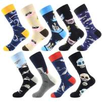 WallchauG Men Dress Socks,Cool Colorful Fancy Novelty Funny Casual Cotton Fashion Patterned Socks