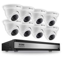 ZOSI 720p 16 Channel Security Camera System,720p HD-TVI CCTV DVR Recorder and 8PCS 1280TVL Dome Surveillance Camera Outdoor with Infrared and Night Vision (No Hard Drive Included)