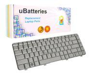 UBatteries Compatible Laptop Keyboard Replacement for HP Pavilion DV4-1000 DV4-2000 DV4T-1000 495646-001 508119-001 538108-001 LKB-HC09S - (Silver)