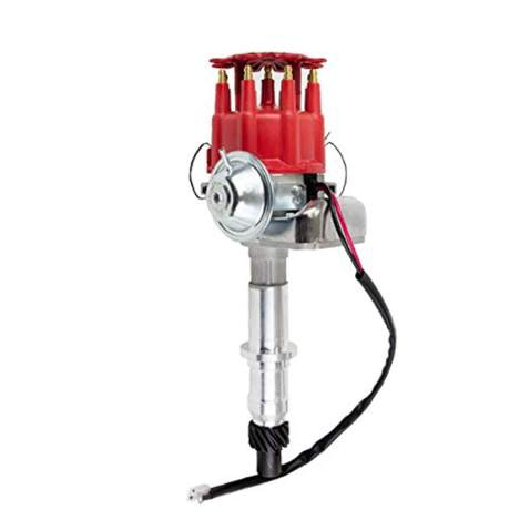 A-Team Performance Ready 2 Run Complete Distributor Compatible with Pontiac V8 301 326 350 387 400 421 428 455 R2R Two-Wire Installation Red Cap