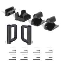 Babepai Hardware Replacement Parts Kit for Retractable Baby Gate, Full Set Wall Mounting Accessories Brackets Screws Black