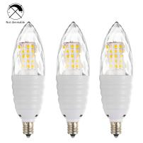 Bogao (3 Pack) LED Candelabra Bulb, 12W Daylight White 6000K LED Candle Bulbs, 80-100 Watt Light Bulbs Equivalent, E12 Candelabra Base,1200 Lumens LED Lights,Torpedo Shape