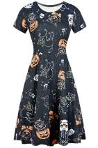 For G and PL Halloween Women's Short Sleeve Tunic Dress