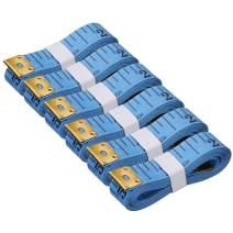 Akstore 6PCS Soft Tape Measures Double-Scale 60-Inch/150cm Soft Tape Measure Ruler Bulk for Sewing Tailor Cloth,Medical Measurement,Body Measurements (Blue)