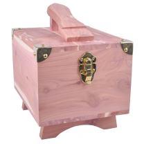 FootFitter Grand Cedar Shoe Shine Valet Box