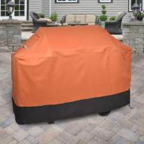 "Griller's Guard Waterproof BBQ Grill Cover for Heavy Duty Outdoor Use - Cover Your Barbecue Grill Year Round - Winter Summer - Complete Protection 42"" x 58"" x 24"" (Orange)"