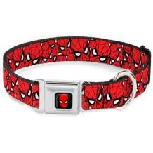 Dog Collar Seatbelt Buckle Spider Man Stacked