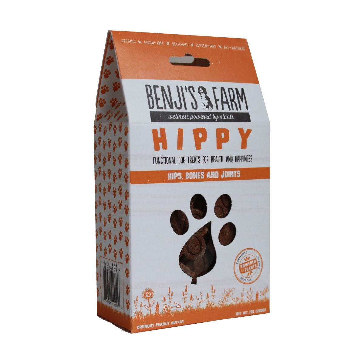 Benji's Farm Organic Functional Dog Treats - Crunchy Peanut Butter - 7oz