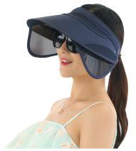 ilishop Women's Beach Sun Visor Wide Brim Hat Cap