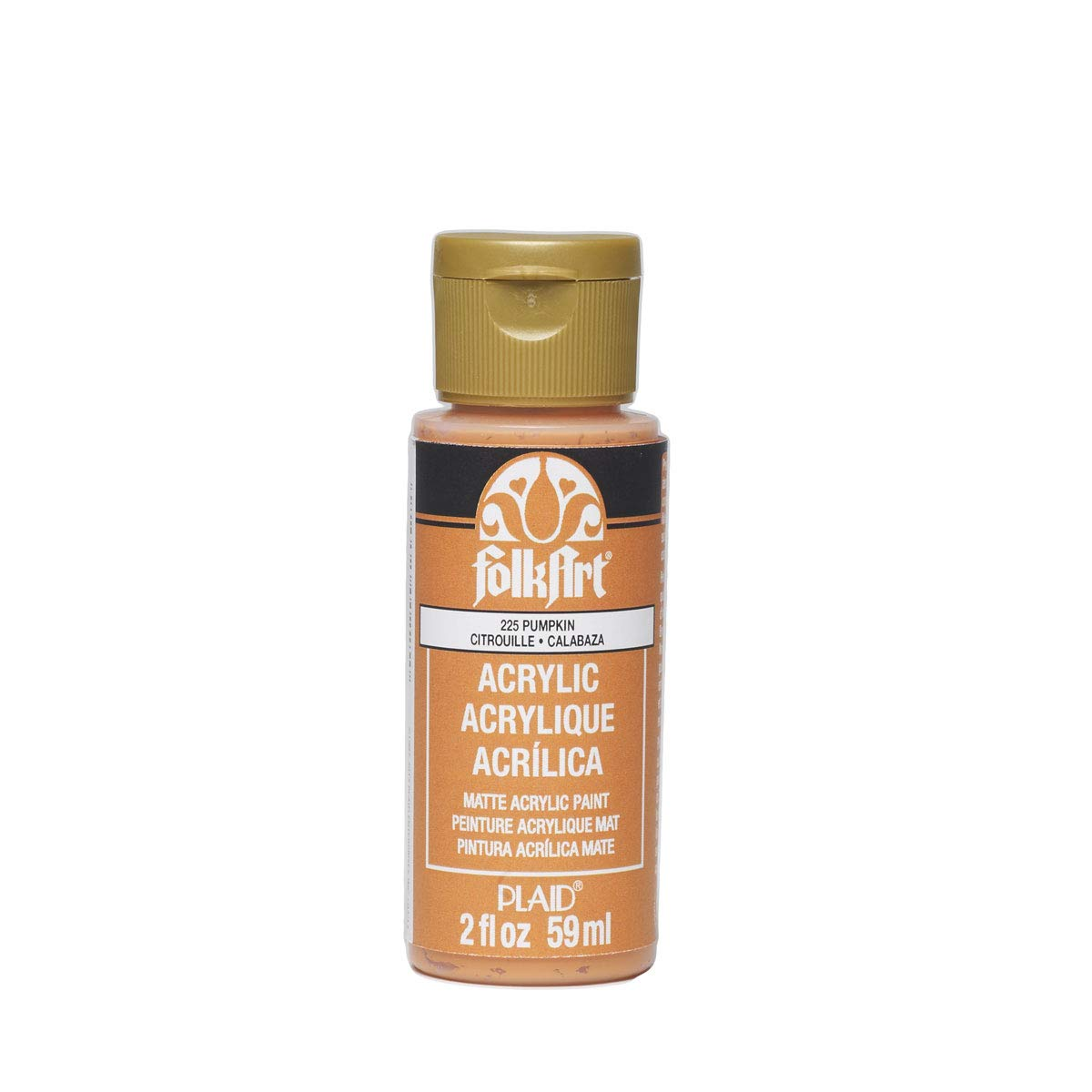 FolkArt Acrylic Paint in Assorted Colors (2 oz), 225, Pumpkin