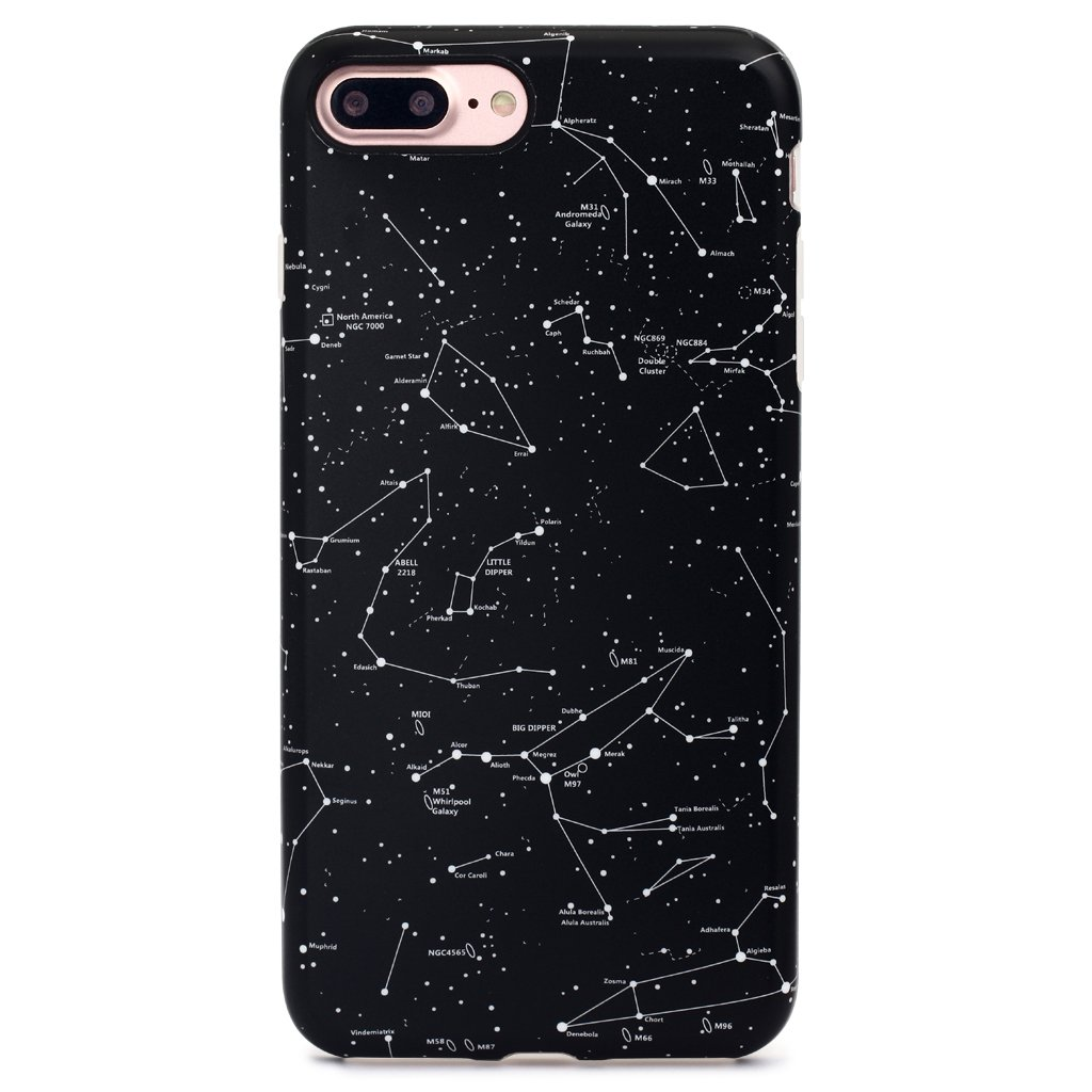 GOLINK iPhone 7 Plus Case/iPhone 8 Plus Case, Matte Space Series Slim-Fit Anti-Scratch Shock Proof Anti-Finger Print Flexible TPU Gel Case for iPhone 7/8 Plus - Stars