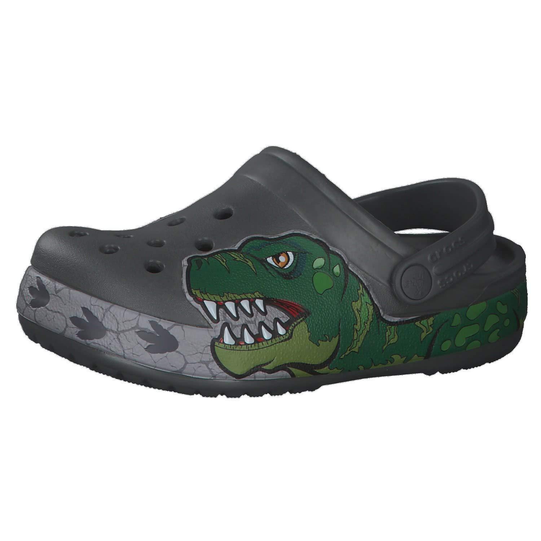 Crocs Kid's Dinosaur Band Clog Slip on Water Shoe for Toddlers, Boys, Girls