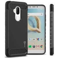 TMobile REVVL 2 Plus Case, Alcatel 7 Case, CoverON Arc Series Modern Protective Phone Case with Shockproof Protection and Carbon Fiber Accents - Black