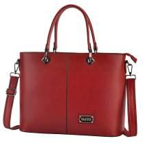 IAITU Laptop Tote Bag, 15.6 inch Large Capacity Shoulder Bag for Work Business Travel,red
