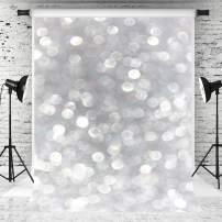 Kate 8x8ft Silver Grey Bokeh Photography Backdrop Luxury Portrait Background White Spot Backdrop