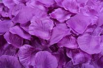 ocharzy 1000pcs Silk Rose Petals Wedding Flower Decoration (Purple)