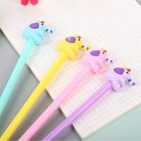 WIN-MARKET Animal Elephant Gel Ink Pen Cute Kawaii Black Writing Pens Ballpoint Black Ink Gel Pen Party Gift Gel Ink Pens Funny School Stationery Office Supplies(6PCS)