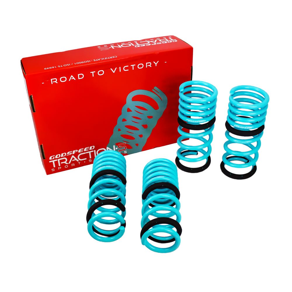 Godspeed LS-TS-II-0002-A Traction-S Performance Lowering Springs, Reduce Body Roll, Improved Handling, Set of 4, compatible with Infiniti G37 Sedan (V36) 2009-2013 RWD