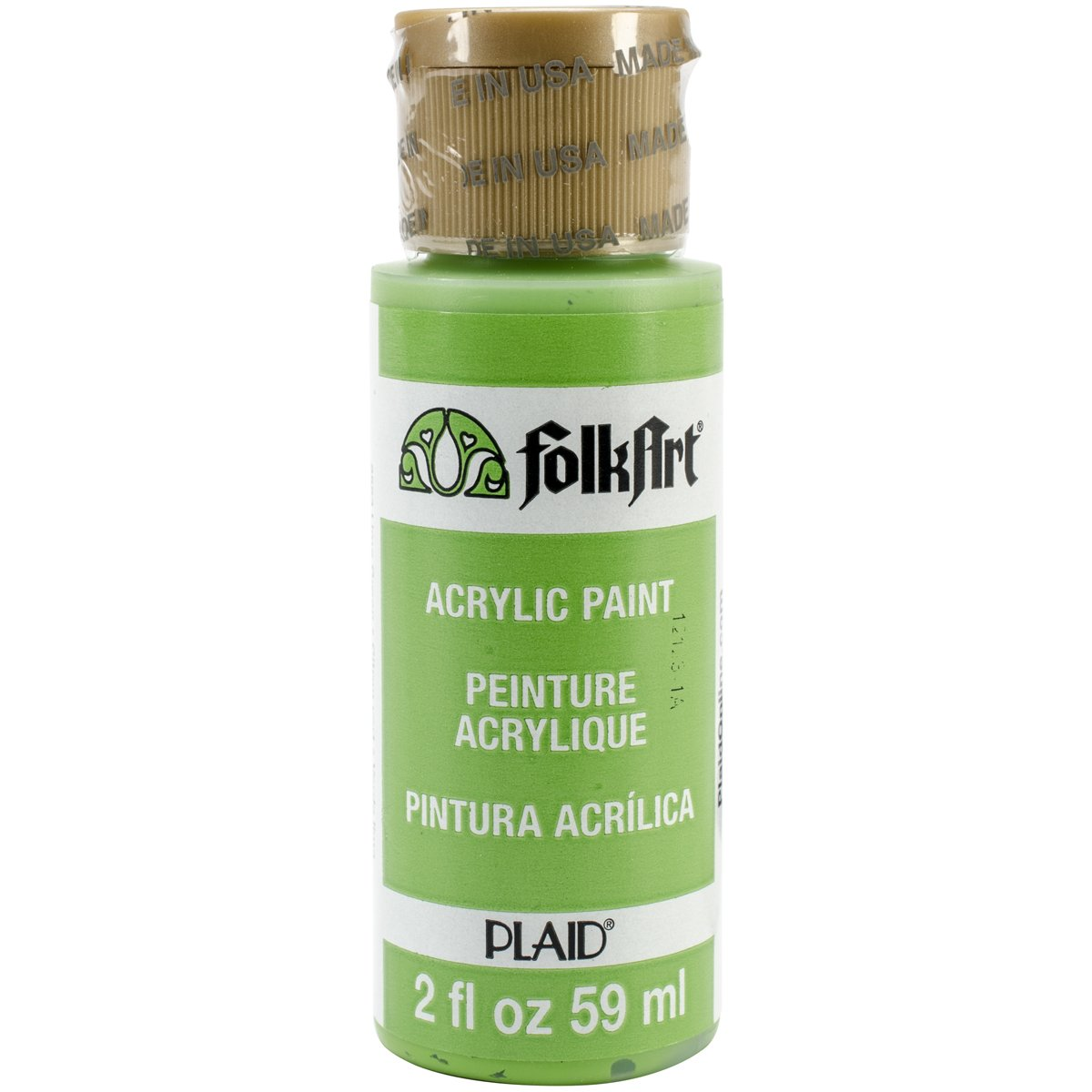FolkArt Acrylic Paint in Assorted Colors (2 oz), 2553, Lime Green