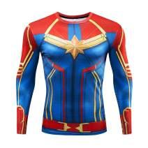 RONGANDHE Men's Super-Hero Compression Sports Fitness Elastic Gym Shirt Quick-Drying Running