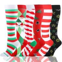 Compression Socks (20-30 mmHg) for Men & Women - 6 Pairs Best Stockings for Running, Flight, Travel, Nurses