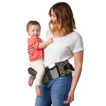 TushBaby The Only Safety Certified Hip Seat Baby Carrier - As Seen On Shark Tank, Ergonomic Waist Carrier for Newborns, Toddlers & Children, Leopard