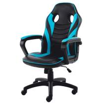 Bonzy Home Gaming Chair Racing Style Office Swivel Computer Desk Chair Ergonomic Conference Chair Work Chair with Lumbar Support PU Leather (Hatsune Green)