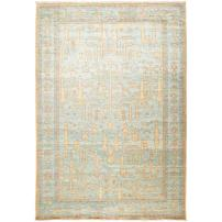 """Solo Rugs Oushak Laberinto One of a Kind Hand Knotted Area Rug, Powder, 6' 3"""" x 9' 1"""""""