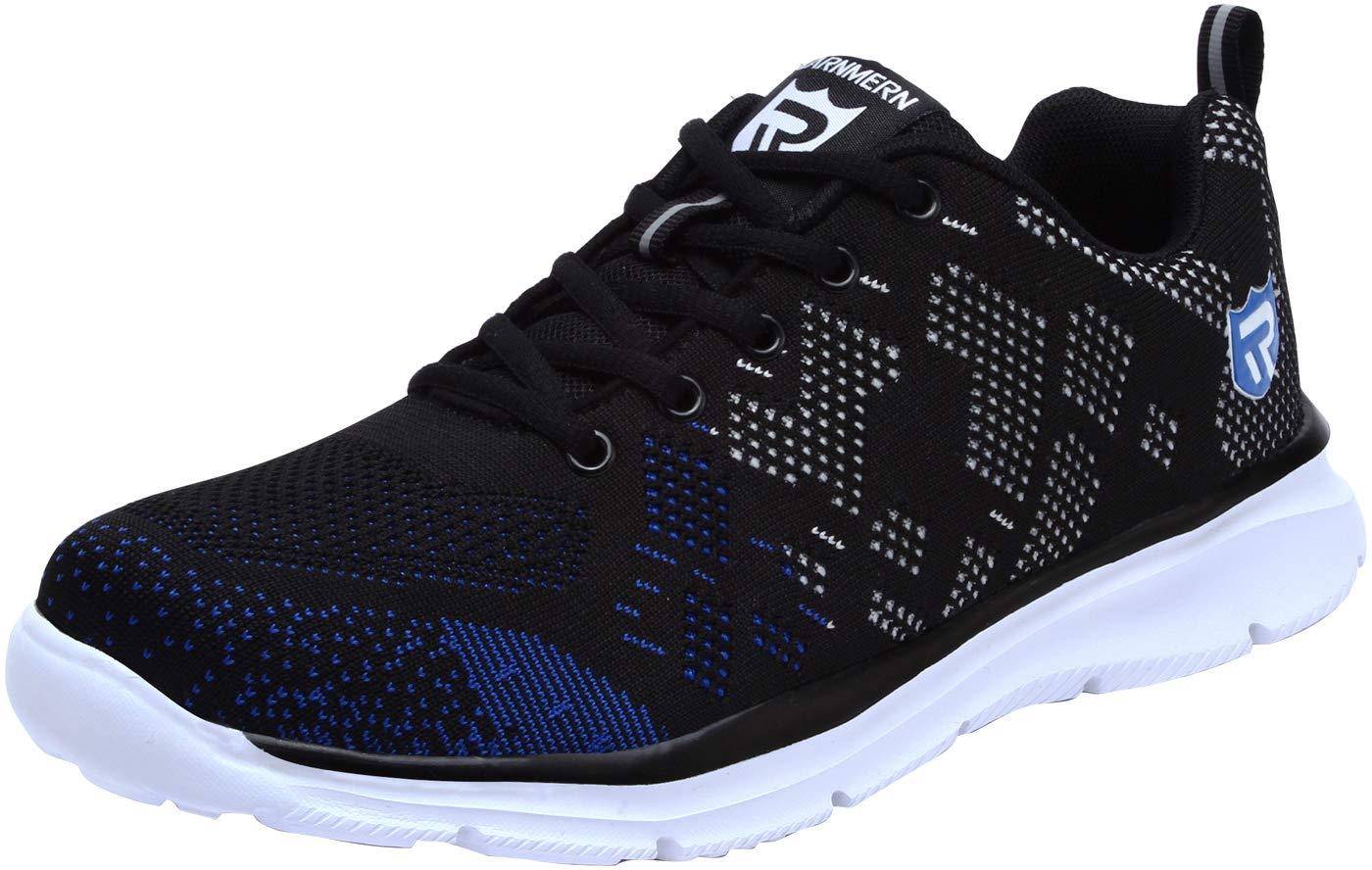 LARNMERN Men's Safety Steel Toe Cap Work Shoes Slip Resistance Anti