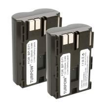 Turpow 2 Pack 2200mAh BP-511 BP-511A Replacement Battery Compatible with Canon EOS 50D, 40D, 30D, 20Da, 20D, 10D, 5D, 300D, Digital Rebel D30, D60, Kiss PowerShot G6, G5, G3, G2, G1, Pro 1, Pro 90