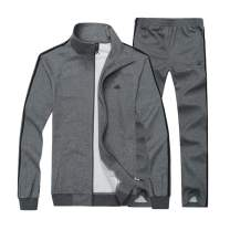 Real Spark Men's Athletic Full-Zip Jogger Sweat Suit Sports Sets Casual Tracksuit Darkgrey S