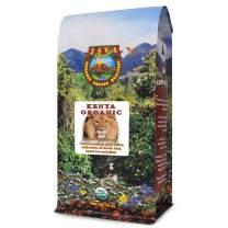 Organic Coffee Beans - Kenya Special Reserve - A Bold Tasting Small Batch Craft Roasted Gourmet Medium Dark Roast Arabica Whole Bean Coffee USDA Certified Organic - 14 Oz