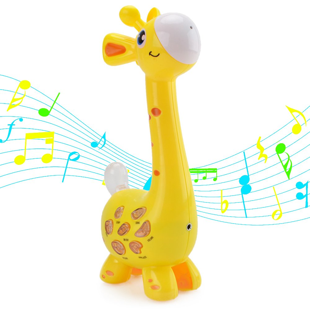 HANMUN Giraffe Music Microphone Karaoke,Protable Musical Microphone Voice Changing and Recording Microphone Toy Play & Sing Learning Toy for Toddlers …