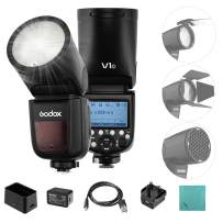 Godox V1C Professional Camera Flash Speedlite Speedlight Round Head Wireless 2.4G for Canon EOS Series 1500D 3000D 5D Mark LLL 5D Mark ll for Wedding Portrait Studio Photography