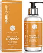 Hairworthy Hairrepair Coconut Oil Shampoo - BIOTIN, NIACIN, CITRIC ACID & ESSENTIAL OILS