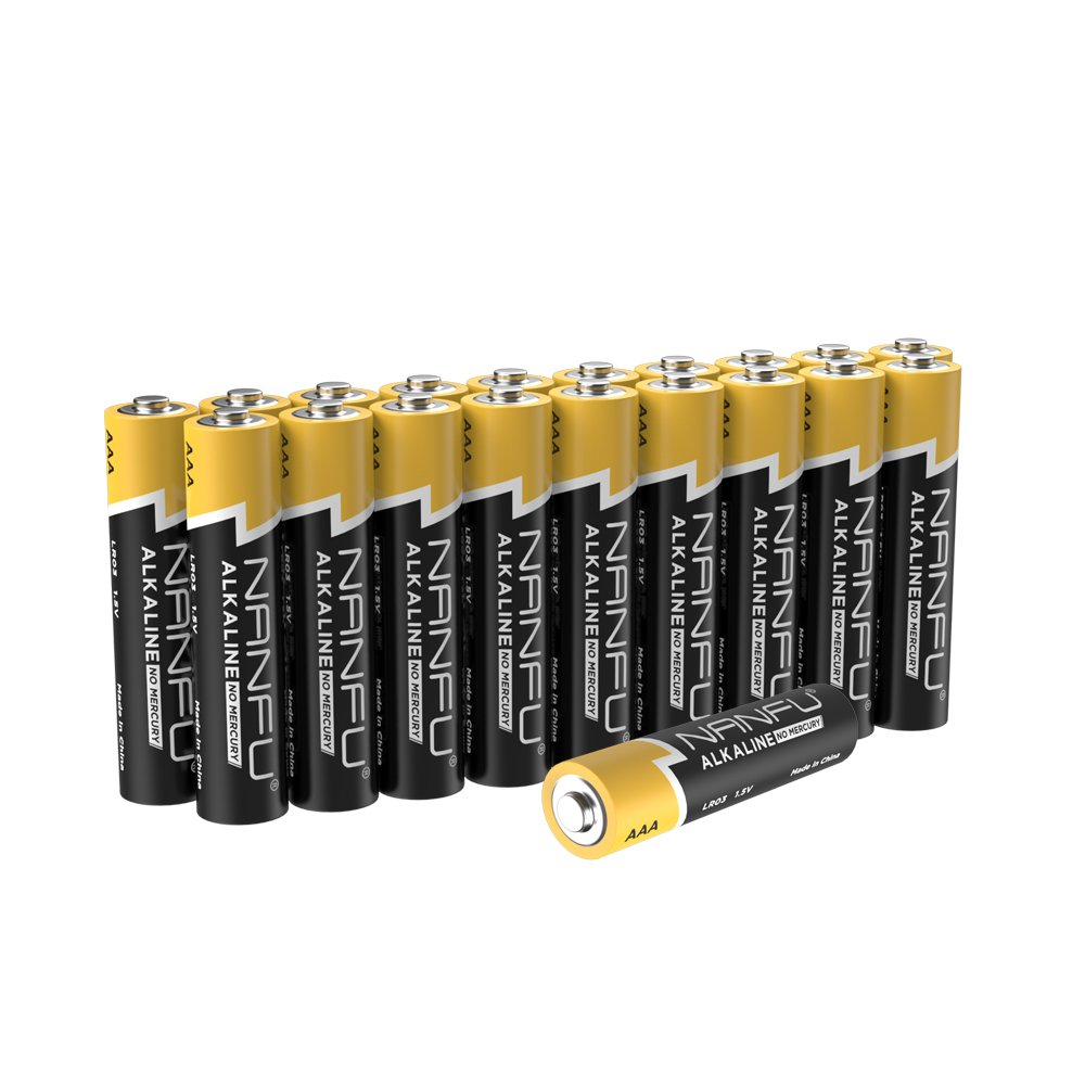 NANFU No Leakage Long Lasting AAA 20 Batteries [Ultra Power] Premium LR03 Alkaline Battery 1.5v Non Rechargeable Batteries for Clocks Remotes Games Controllers Toys Electronic Devices Ear Thermometer
