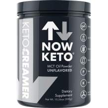 NOW KETO® Keto MCT Oil Powder from Coconuts | Low Carb High Fat | Medium Chain Triglyceride | Ketogenic Diet Supplement | Activates Ketosis & Boosts Ketones for Keto Diet. Keto Coffee Creamer.