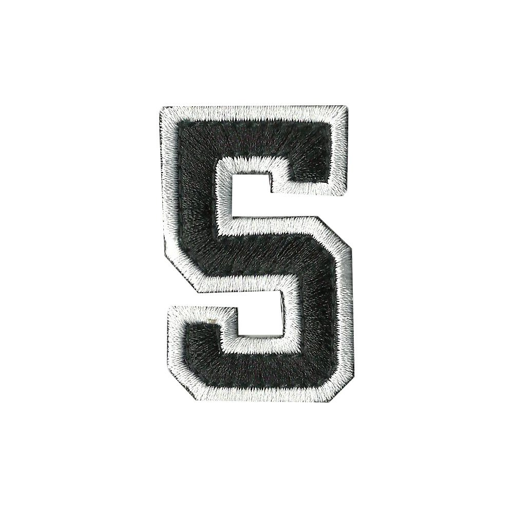 Tactical Numbers Patches - Black/White
