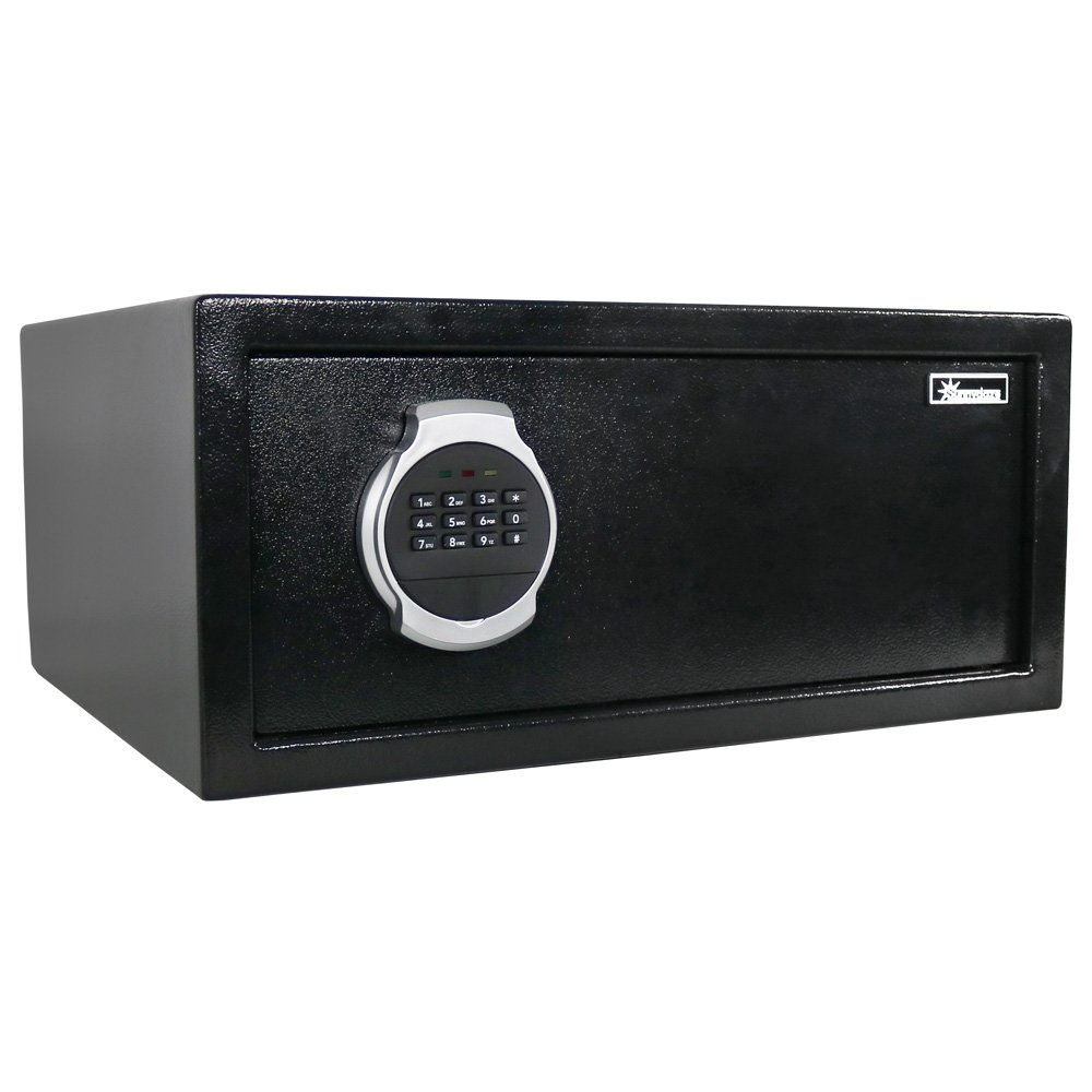Sunnydaze Digital Security Safe Lock Box with Bolt-Down Hardware and Programmable Lock - for Home, Business, or Travel, 1.19 Cubic Feet